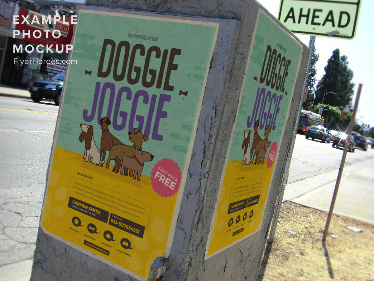 dog walkers flyer template v flyerheroes dog walkers flyer template v2