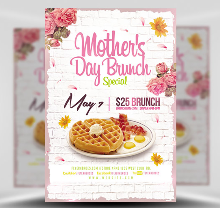 Mothers Day Storewide Sale Template: Mothers Day Brunch V2 Flyer Template