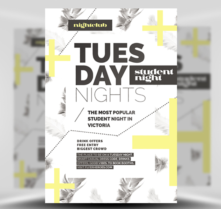 Feather Series – Tuesday Night Flyer Template