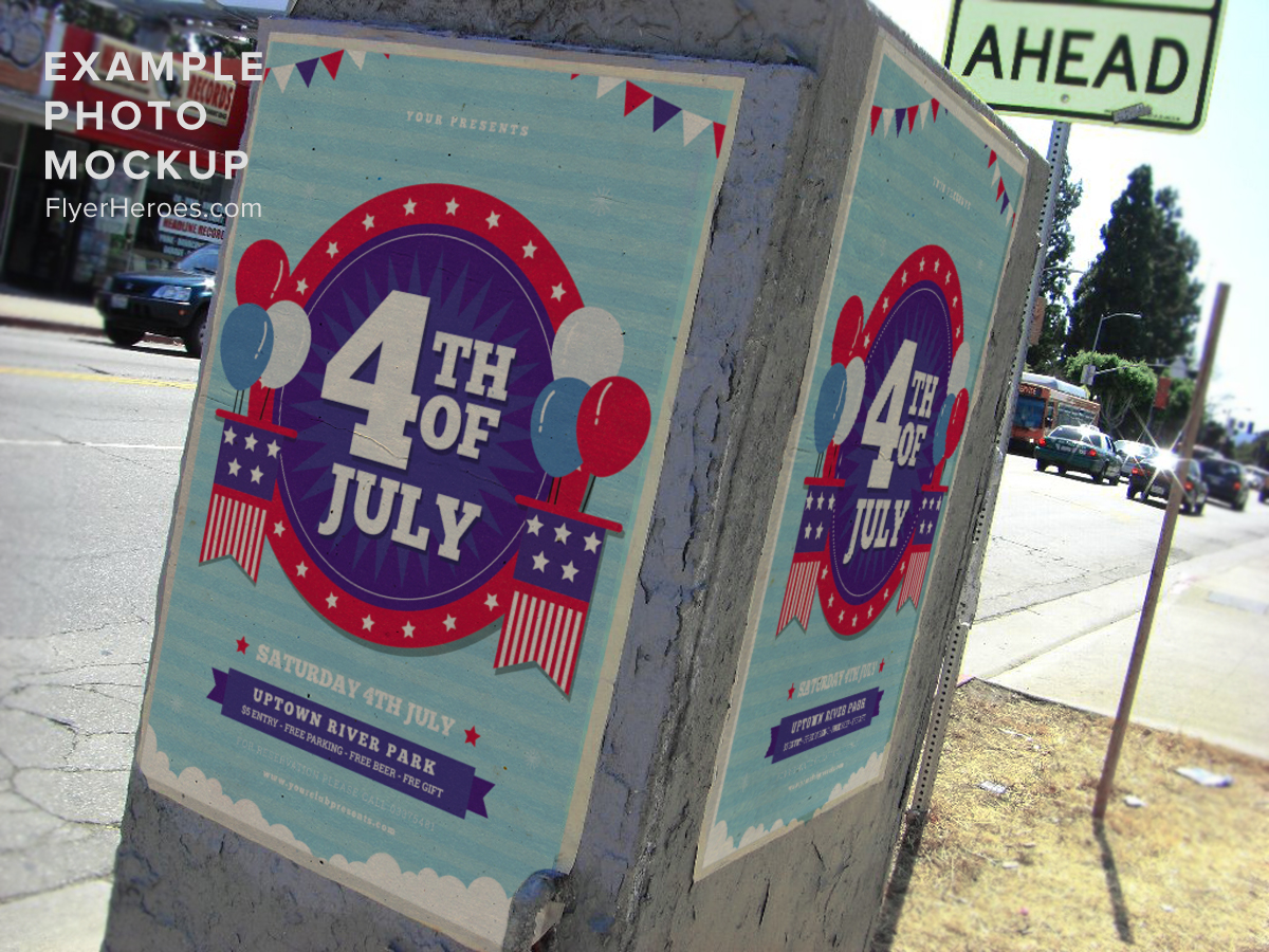 4th of july flyer template 3