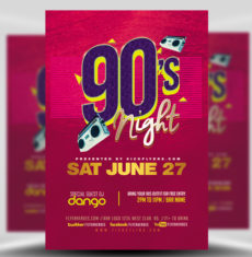 Party and Club Flyer Templates for Photoshop   FlyerHeroes