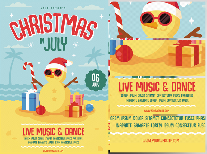 Christmas In July Free Graphics.Christmas In July Flyer Template Flyerheroes