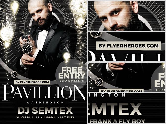 Pavillion flyer template flyerheroes for Flyerheros