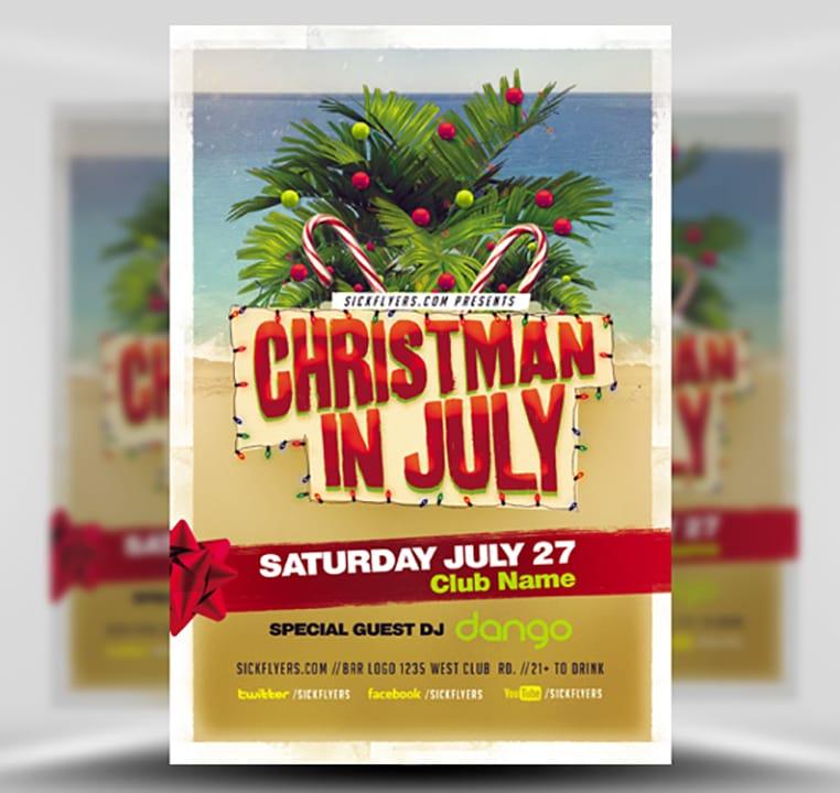 Christmas In July Flyer Template V2 - FlyerHeroes