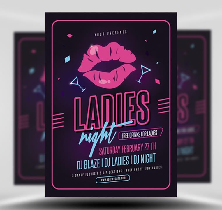 Poster ladies night The Art