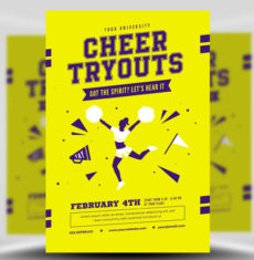 Cheer Tryouts Flyer Template