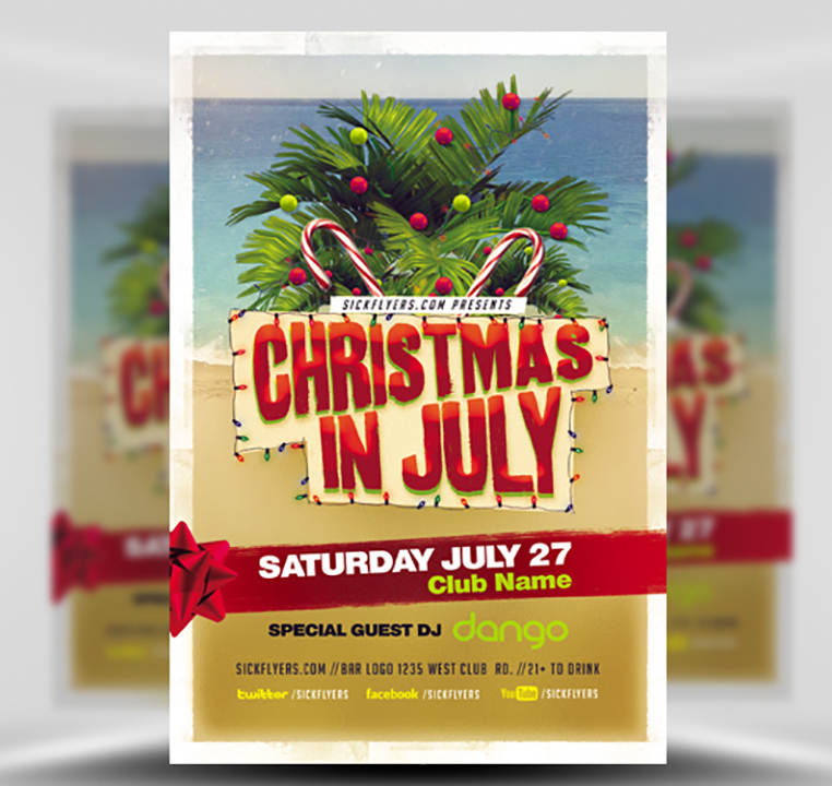Christmas In July Free Graphics.Christmas In July Flyer Template V2 Flyerheroes