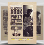 Classic Rock Bands Flyer Te-Graphicriver中文最全的素材分享平台