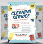 Cleaning Service Flyer Temp-Graphicriver中文最全的素材分享平台