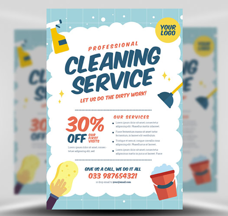 cleaning service flyer template v2 flyerheroes. Black Bedroom Furniture Sets. Home Design Ideas