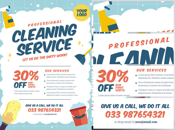 Cleaning Flyer Template  ApigramCom