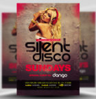 Silent Disco Flyer Template-Graphicriver中文最全的素材分享平台