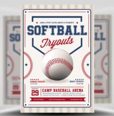 softball flyer template free