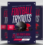 Football Tryouts Flyer Temp-Graphicriver中文最全的素材分享平台