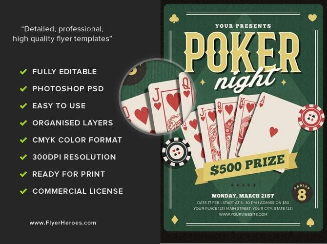 Poker Night Fundraiser Flyer Slots Togo
