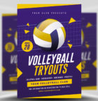 Volleyball Tryouts Flyer Te-Graphicriver中文最全的素材分享平台