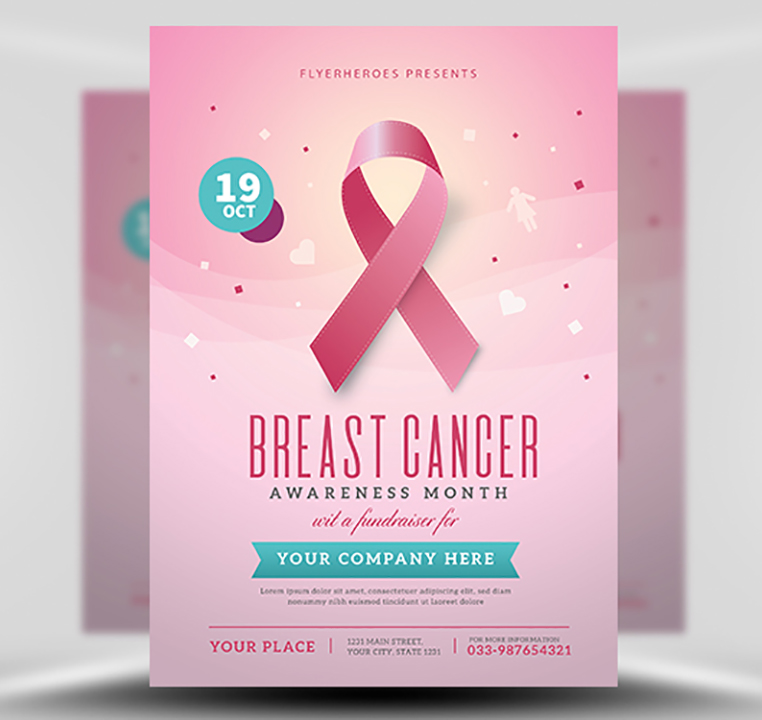Breast Cancer Awareness Month Flyer Template Flyerheroes