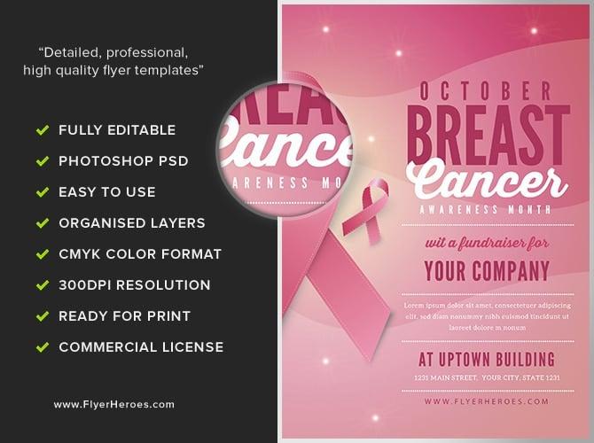 T Cancer Awareness Month Flyer Template V2