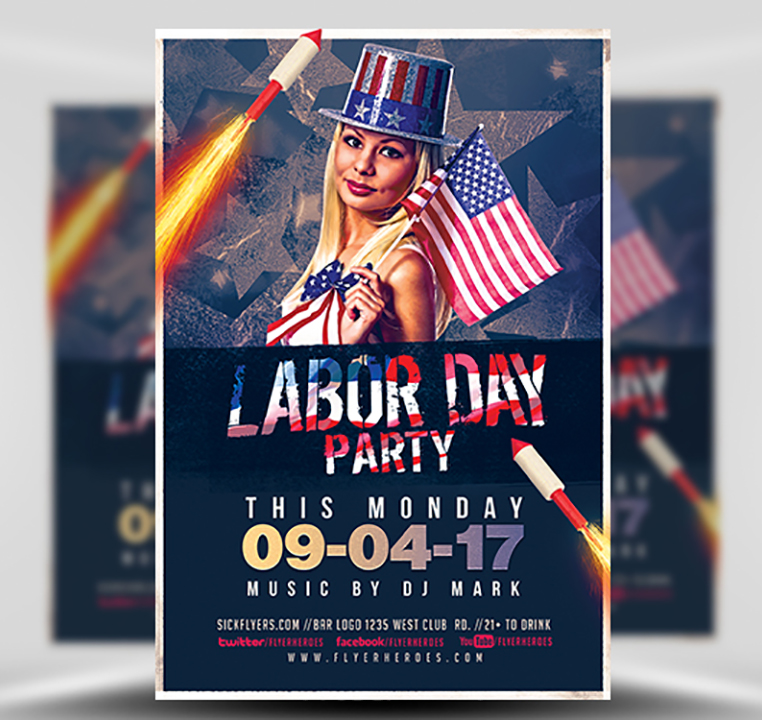 Labor Day Party Flyer Template V5 - Flyerheroes