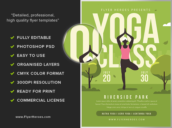Yoga In The Park Flyer Template 2 Flyerheroes