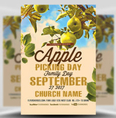 Apple Picking Church FlyerHeroes