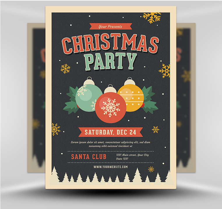 Christmas Party Flyer.Jingle Bells Christmas Party Flyer Template Flyerheroes