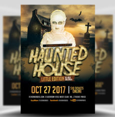 photograph relating to Free Printable Halloween Flyer Templates referred to as Halloween Flyer Templates for Photoshop