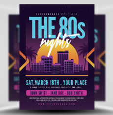 The 80's Night Music Flyer FH1