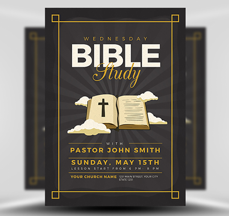 Bible Study Flyer Template V3 Flyerheroes