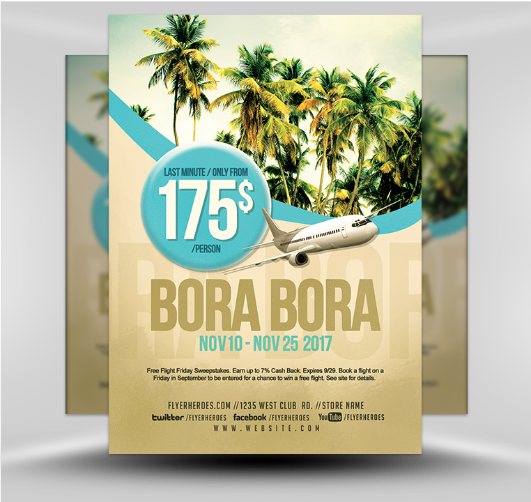 Travel V1 Flyer PSD