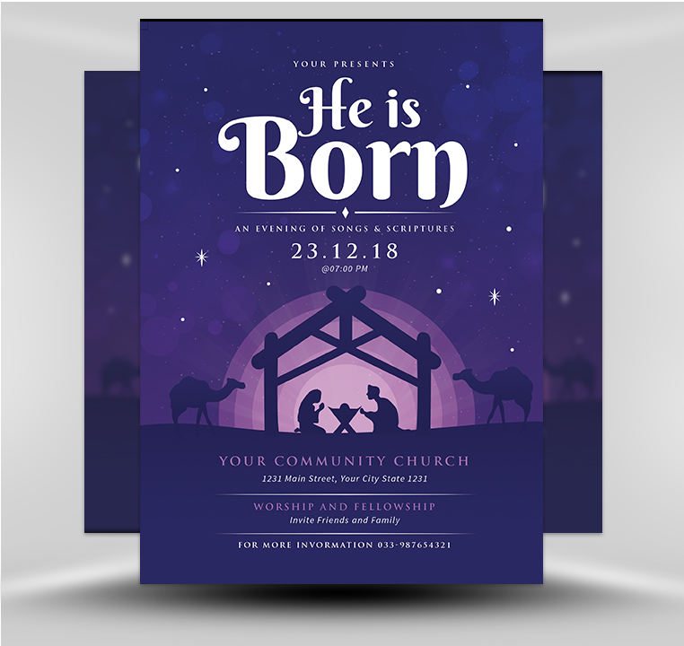 Religious Christmas.Religious Christmas V1 Flyerheroes