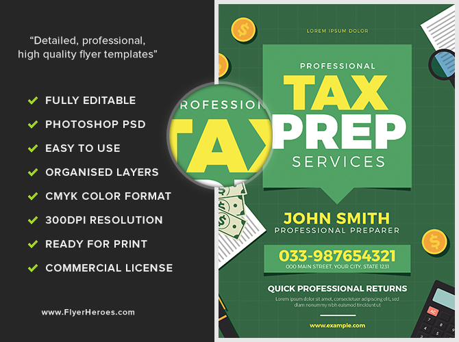 Tax Prep Flyer Flyerheroes