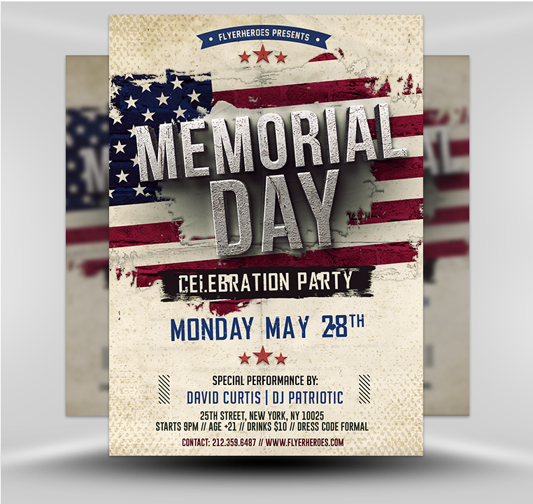 Memorial Day Flyer Template V2