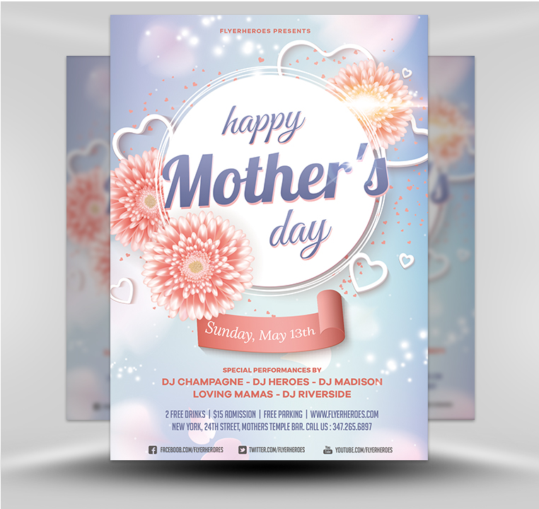 Mothers Day Sale Flyer Psd Template: Mother's Day Flyer Template V6