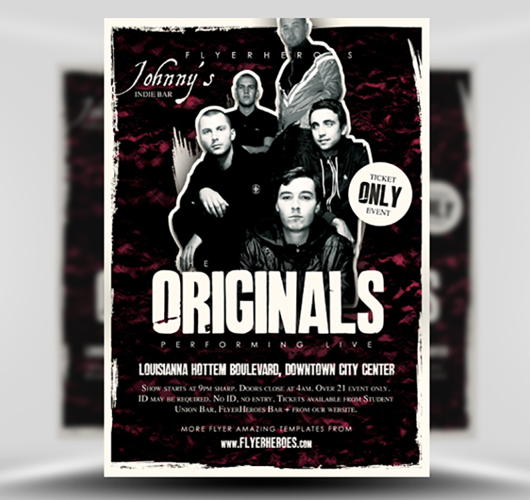 Originals Indie Band Flyer Template