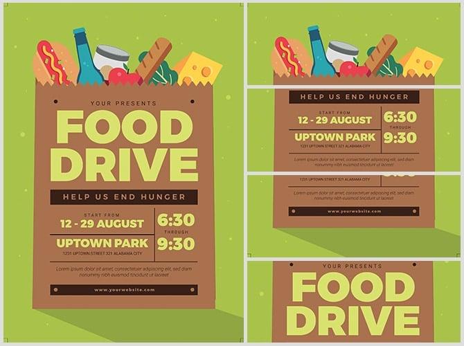 Food Drive Event Flyerheroes