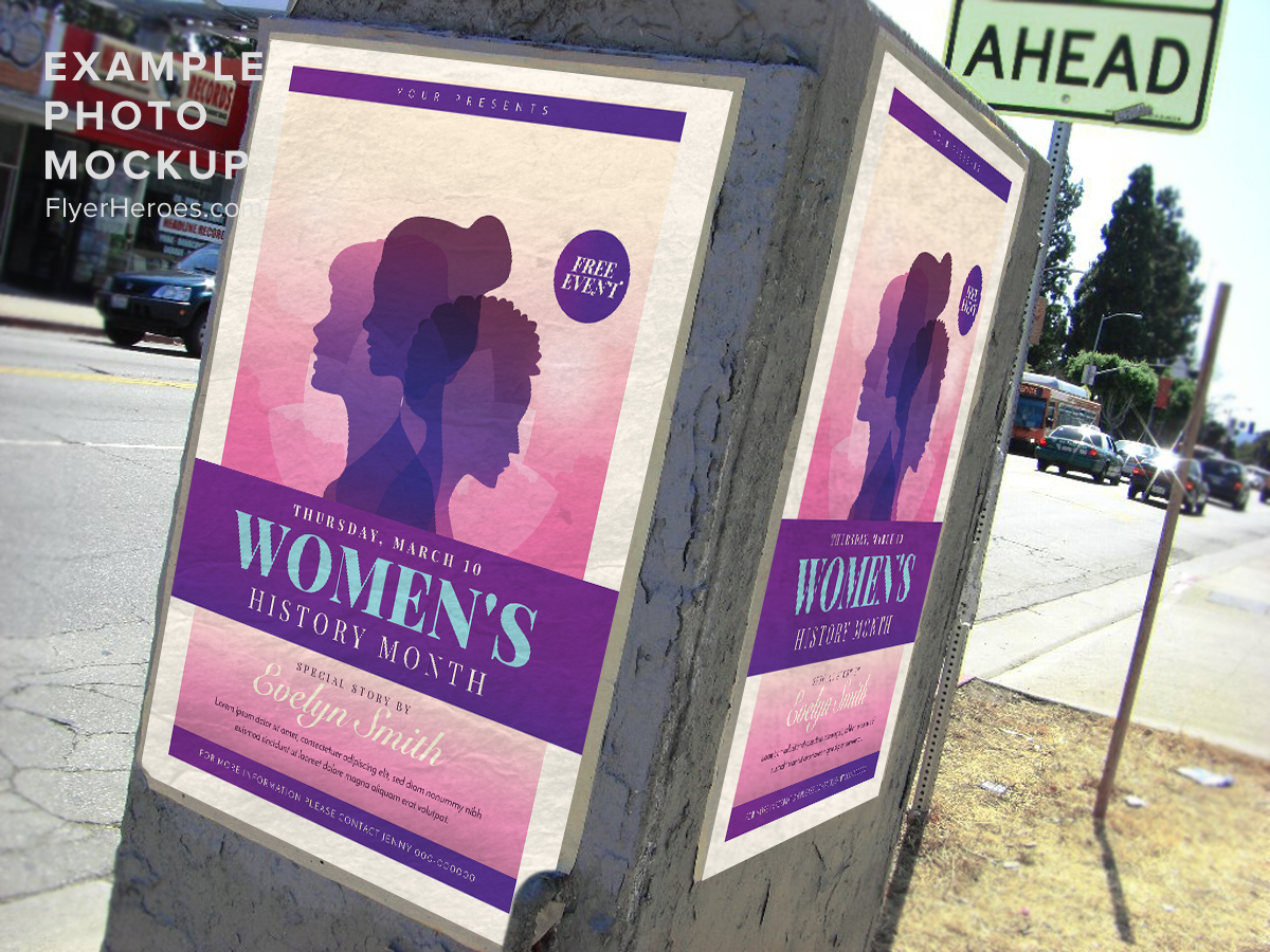 Women's History Month 1 - FlyerHeroes