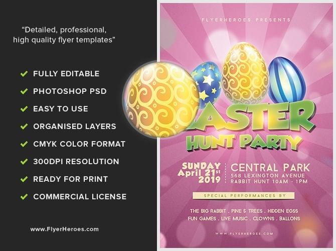 Easter Party 1B - FlyerHeroes