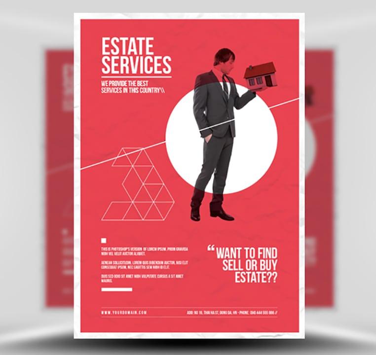 Minimal Real Estate Flyer Template Flyerheroes