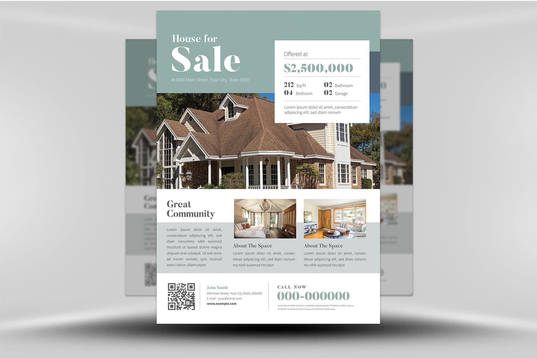 seaside real estate flyer template
